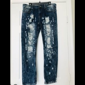 Trillnation destroyed look jeans